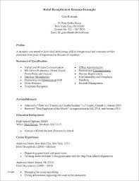 Front Desk Resume Examples Front Desk Best Front Desk Software For