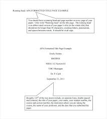 Apa Cover Sheet Examples 15 Cover Sheet Apa Format Lettering Site