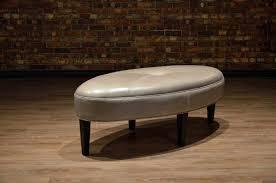 oval leather ottoman oval leather ottoman