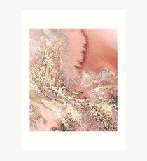 rose gold marble art print on wall art redbubble with rose gold marble wall art redbubble