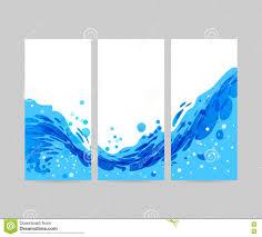 Brochure Background Design Tri Fold Wave Background Brochure Design Stock Vector