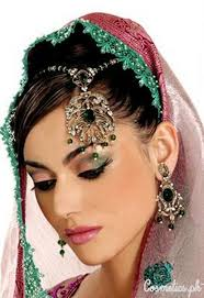 latest indian bridal eye makeup 2016 green and pink