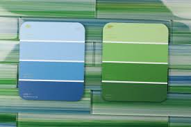 Subway Glass Tiles For Kitchen Blue Green 2x12 Hand Painted Subway Glass Tile Kitchen For