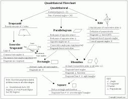 Quadrilateral Flow Chart Blank Morning Geometry
