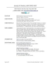 Certified Safety Professional Resume Flight Attendant Resume Sample