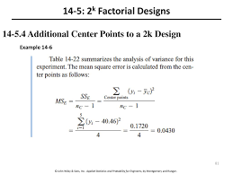 Design Factor Formula Enm 310 Design Of Experiments And Regression Analysis