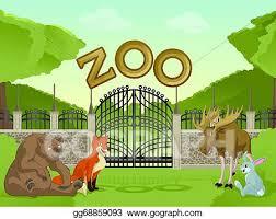 zoo drawing. Delighful Zoo Zoo With Cartoon Animals Inside Drawing O