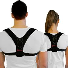 Posture Corrector and Back Brace (Black) Support | Adjustable Shoulder for Upper Pain Relief