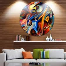 designart abstract music and rhythm abstract glossy circle metal wall art on metal paintings wall art with shop metal art discover our best deals at overstock