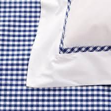 duvet cover with white top midnight dark blue gingham