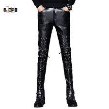 idopy fashion trend black pu faux leather jpg