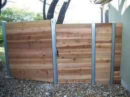 horizontal wood and metal fence. Plain And Horizontal Board Fence With Metal Posts Custom Steel Gate  Area Modern Home Interior Decoration Ideas On Wood And W