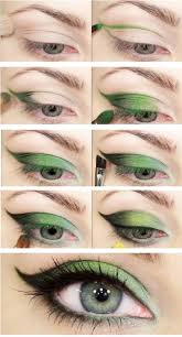 tutorial nature green eye makeup