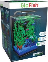 Glofish Light Bar Glofish Aquarium Kit Fish Tank With Led Lighting And