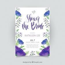 fl bridal shower invitation template in watercolor style free vector templates microsoft publisher brid