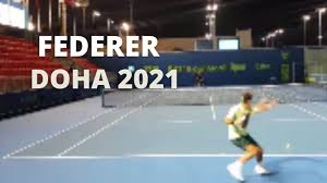 Roger Federer First Practice in Doha 2021 - YouTube