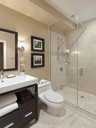 Beige Tiled Bathrooms Minimalist