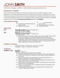 Pharmacist Objective Resume Unique Entry Level Pharmacy