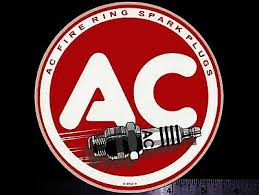 Ac Marine Spark Plug Chart Vintage Original Ac Spark Plug Holder Sign W Chart 4
