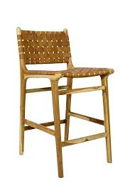 leather bar stools with back leather bar stool with high back strapping teak tan stools counter