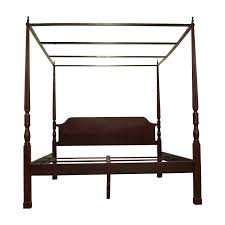84% OFF - Bombay Company Bombay Canopy King Cherry Wood Bed Frame / Beds