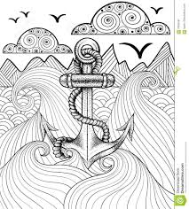 daring coloring pages of anchors pin by barbara skidgel on wave doodles