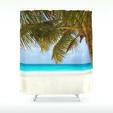 tropical beach shower curtains tropical beach shower curtain tropical beach fabric shower curtain