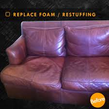 replace seat cushion foam and cushion restuffing before