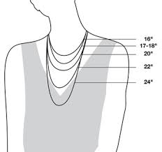 Necklace Pendant Size Chart Necklace And Chain Size Guide Reeds Jewelers