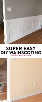 diy wainscoting renovation i never thought installing wainscotting would be so easy here is