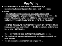 the document based question ppt  4 pre write