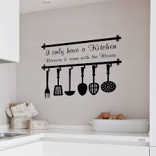 on kitchen wall art lettering with the important of kitchen wall decals for you the new way home decor
