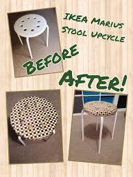 cover my furniture. My IKEA Hack - Covered A Marius Stool (£3) With Foam (£3), Self Cover Buttons And Scrap Of Fabric. Furniture P