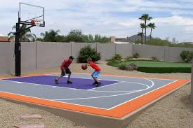 backyard basketball court system