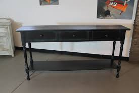 black console table in reclaimed wood  lake and mountain home