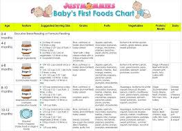 Gerber Baby Food Age Chart Baby Food Feeding Chart Your Complete Infant Formula Feeding
