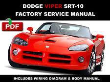 dodge viper service manual cd dodge viper 2003 2004 2005 2006 roadster service repair workshop fsm manual