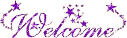 Welcome Purple Welcome Purple Glitter Image Desibucket Com