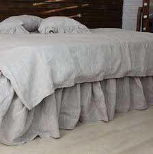 linen bedskirt king. Wonderful King Linen Dust Ruffle With 2X Ruffles In Natural Linen Color White Or Off In Bedskirt King