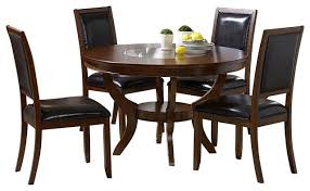 homelegance avalon 48 inch round dining table in cherry
