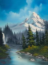 cascading falls painting by bob ross so nice and probably part of bob s memories of his lovely alaska web mreno