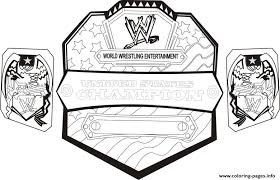 Small Picture Wwe Championship Belt World Wrestling Coloring Pages Printable
