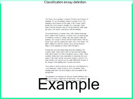Classification Essay Examples On Friends Division Essays A Complex