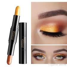 double head eyeshadow stick soft highly color dual use pearl eye shadow stick beauty makeup cosmetics eye makeup for green eyes from juntao88