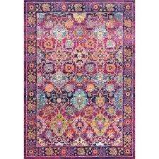 persian leilani fuchsia 5 ft x 7 ft area rug