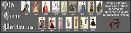 Historical Patterns Awesome OLD TIME PATTERNS Period Correct Historical Sewing Patterns For