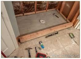 tile shower base options pan on concrete floor not sloped properly bathrooms pretty custom sho