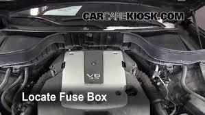blown fuse check 2009 2012 infiniti fx35 2010 infiniti fx35 3 5l v6 locate engine fuse box and remove cover