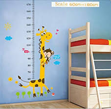 Amazon Com Kids Growth Height Chart Measure Rule Removable