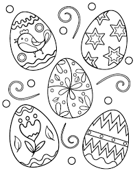 Small Picture Free Easter Egg Coloring Page